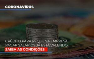 Credito Para Pequena Empresa Pagar Salarios Ja Esta Valendo Notícias E Artigos Contábeis - Contabilidade em São Paulo | Catana Assessoria Empresarial