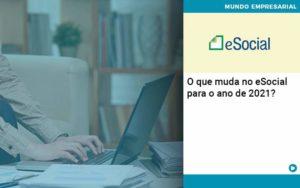 O Que Muda No Esocial Para O Ano De 2021 (1) - Contabilidade em São Paulo | Catana Assessoria Empresarial